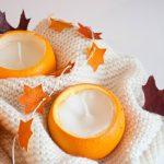 bougies diy oranges
